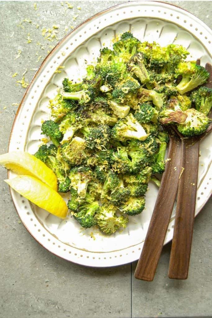 Roasted broccoli w/ lemon and pepper.