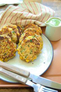 Vegan & Gluten free corn fritters