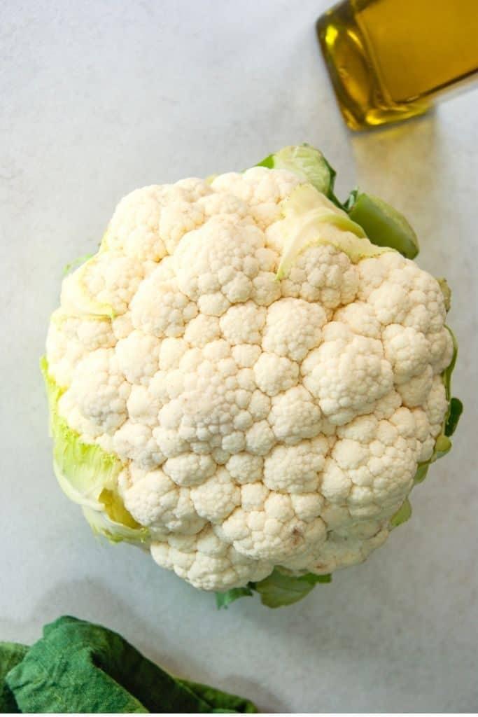 Whole cauliflower head to roast.