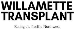 Willamette Transplant PNW vegan logo