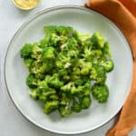 vegan cheesy broccoli side dish.