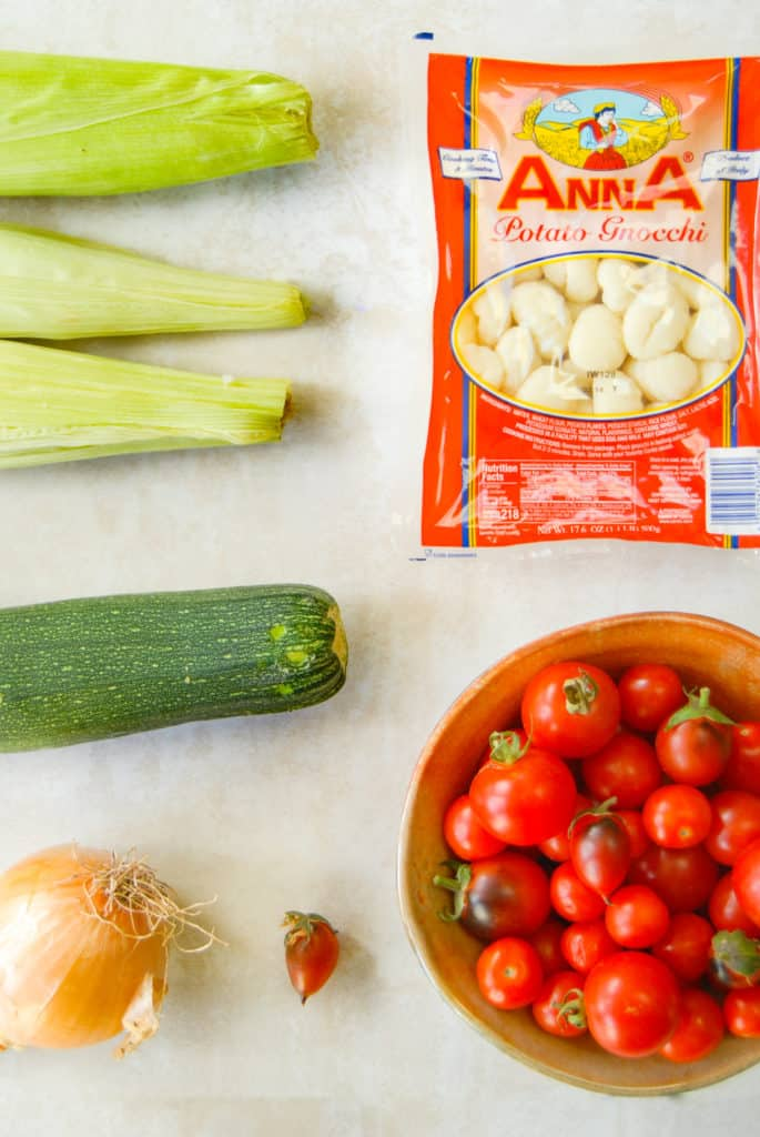 ingredients to make gnocchi succotash