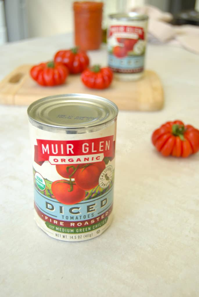 a can of muir glen organic diced tomatoes