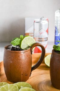 a tequila mule in a mug with condensation