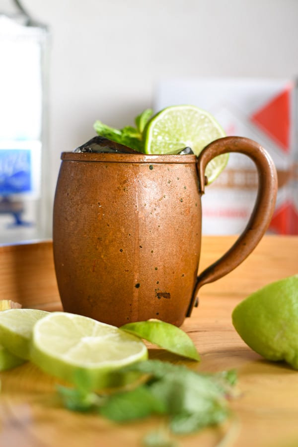 a copper mug with a mexican mule inside it