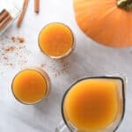 a pitcher of pumpkin juice